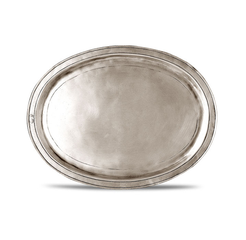 [코지타벨리니]Orvieto Oval Incised Tray Large (CT8471)